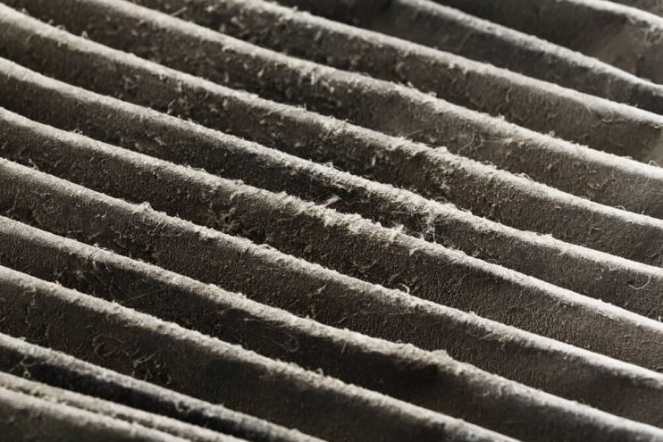 Dirty Furnace Filter, Furnace Cleanup